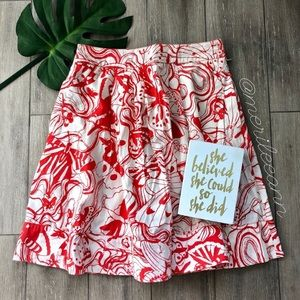 Anthropologie Fei Abstract Butterfly Skirt